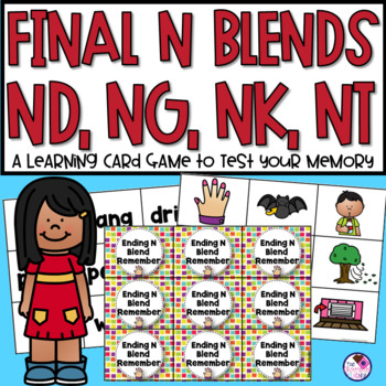 NG, NK, ND, NT Ending Consonant Memory Game