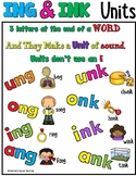 NG & NK Worksheets Orton Gillingham Spelling (INK & ING Units)