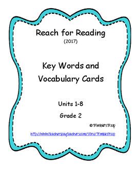 NG Reach for Reading Key Words and Vocabulary Cards