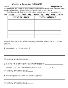 NG Reach for Reading - Read on your own Unit 5 Supplement Questions