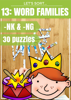 NG and NK Word Families Puzzles and Spelling Practice