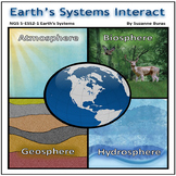"""NGS 5-ESS2-1 Earth's Systems Interact: The 4 """"Spheres"""""""
