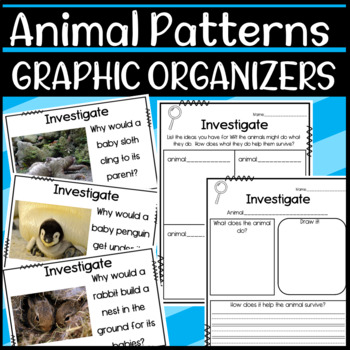 NGSS 1.LS1.2 Science Graphic Organizers