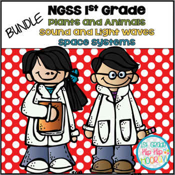 NGSS 1st Grade Bundle...Waves, Animals, Plants, Space