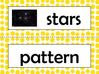 NGSS 1st Grade Science Vocabulary Cards: Space Systems Patterns & Cycles