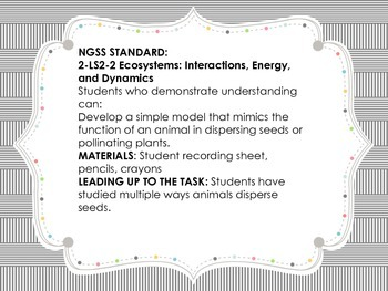 NGSS 2-LS2-2 Performance Task 2nd Grade Ecosystems