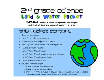 NGSS 2nd Grade - Land and Water Model 2-ESS2-2