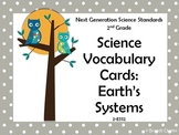NGSS 2nd Grade Science Vocabulary Cards: Earth's Systems