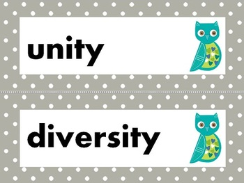 NGSS 2nd Grade Science Vocabulary Cards: Unity & Diversity