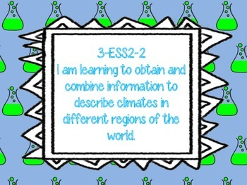 NGSS 3rd Grade Learning Targets