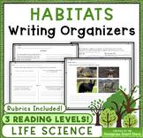 Habitats: Writing Activities & Rubrics (NGSS 3-LS4-3)