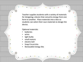 NGSS 4-PS3-4 Energy Performance Task
