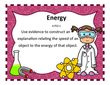NGSS 4th grade Science Standards with I can statements