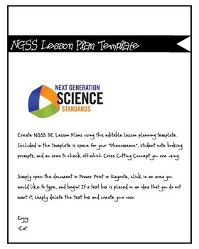 NGSS 5 E Lesson Template