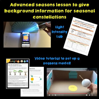 NGSS 5-ESS1-2 Constellations by Season
