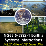 NGSS 5-ESS2-1 Earth's Systems Interactions 5E Lesson Plan for 5th Grade