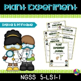 NGSS 5-LS1-1 : Plants Experiment