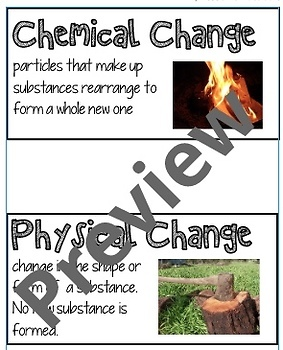 NGSS 5th Grade Matter Vocabulary Cards
