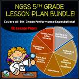 NGSS 5th Grade Science Lesson Plan Bundle for the Entire Year