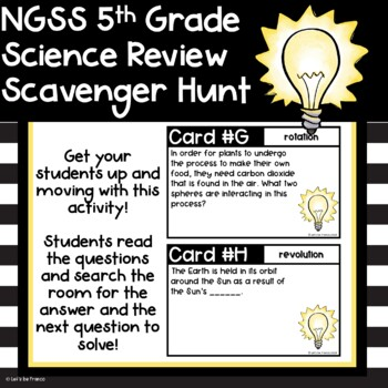 NGSS 5th Grade Science Review Scavenger Hunt