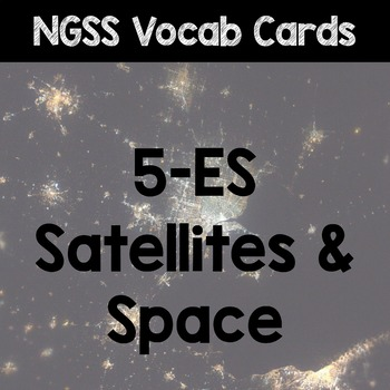 NGSS Word Wall Cards - Earth & Space Science (ESS1)