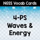 NGSS 5th Grade Word Wall Cards - Energy and Waves