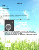 NGSS 5th grade science - dandelion seeds