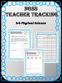 NGSS*, 6-8 Physical Science Planning & Tracking