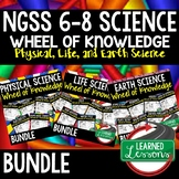 NGSS 6-8 Science Activities Wheel of Knowledge, NGSS Science Activity BUNDLE