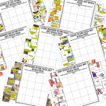 NGSS 6-8 Science Activity, NGSS Science Picture Puzzles, Test Prep BUNDLE