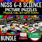 NGSS 6-8 Science Activity, NGSS Science Picture Puzzles, T