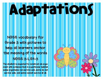 NGSS Adaptation vocabulary cards