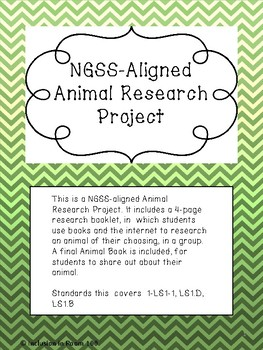 NGSS-Aligned Animal Project