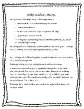 NGSS Aligned Bridge Building Project Freebie Grades 3-5 (Engineering & Design)