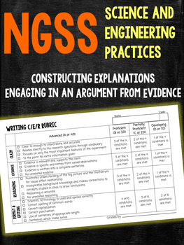 NGSS-Aligned Claim Evidence Reasoning Rubric