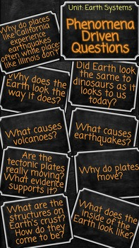 NGSS Aligned Driving Phenomenon Based Questions Earth Systems.