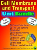 Cell Membranes and Transport Complete Unit Bundle: NGSS Aligned