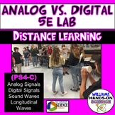 MS-PS4-3: NGSS Analog Vs. Digital Wave Properties 5E Telephone Lab