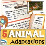 NGSS Animal Adaptation and Traits Help them Survive Book a
