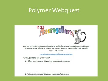 NGSS Are You Gellin' 7th grade Polymers Lessons