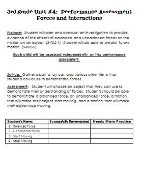 NGSS Assessment Bundle- Third Grade