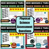 NGSS Assessment Tasks and Test Questions BUNDLE of All MS-PS Physical Science