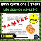 NGSS Assessment Tasks and Test Questions MS-LS1-2 Function of Cell Organelles