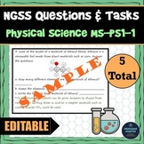 Distance Learning Science NGSS Assessment Tasks MS-PS1-1 Model Atoms Molecules
