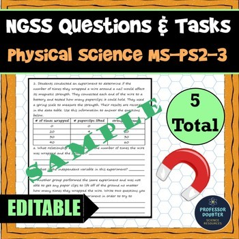 NGSS Assessment Tasks and Test Questions MS-PS2-3 Electric and Magnetic Forces