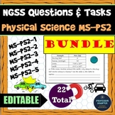 Distance Learning Science NGSS Assessments MS-PS2 All Phys