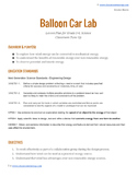 NGSS Balloon Car Science Lesson