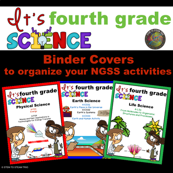NGSS Binder Covers for Organizing Your Fourth Grade Units or Activities