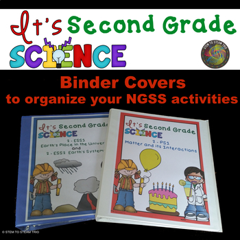 NGSS Binder Covers for Organizing Your Second Grade Units or Activities
