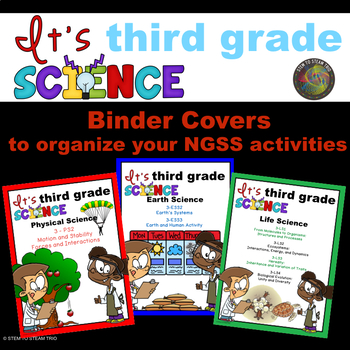NGSS Binder Covers for Organizing Your Third Grade Units or Activities